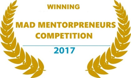 Winning MAD Mentorpreneur competition